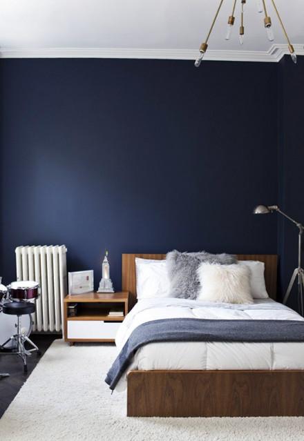 blauw slaapkamer