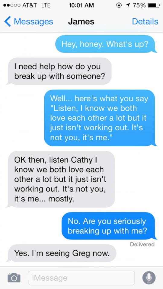 break-up sms'jes