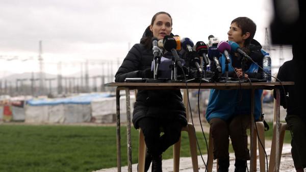 Angelina jolie réfugiés
