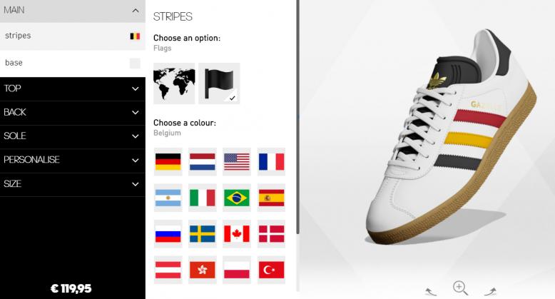 ON VEUT: les Adidas personnalisées aux couleurs de la Belgique