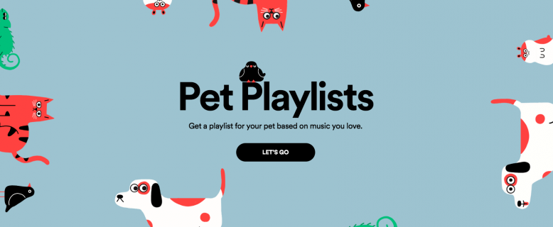 Spotify playlists pour animaux