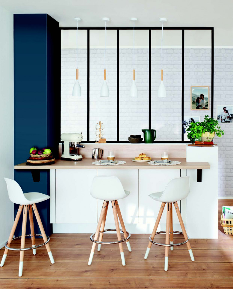 Keuken met glazen wand