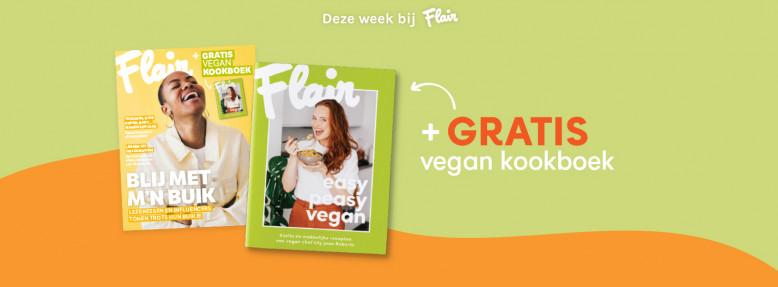 Gratis vegan kookboek bij Flair