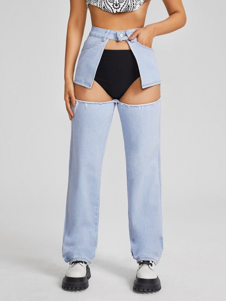 Shein imagine un jeans avec trou pubien - DR Shein