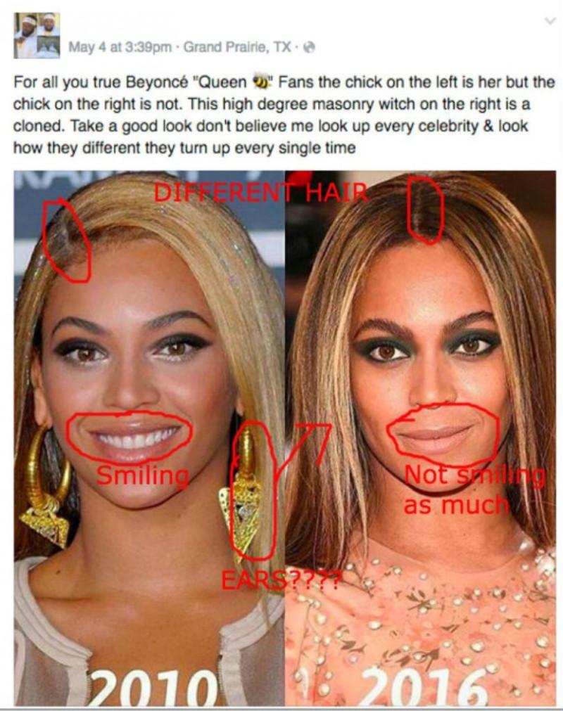 Beyoncé fausse